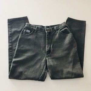 Vintage High Waisted Worn Black Mom Jeans